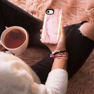 Lumee Duo Marble Pink Case